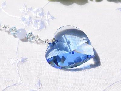 画像1: サンキャッチャー  lovely heart *blue*