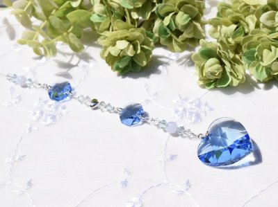 画像3: サンキャッチャー  lovely heart *blue*