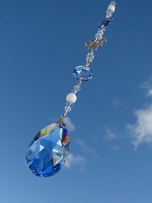 画像1: <再販>サンキャッチャー 羽ばたき*blue* (1)